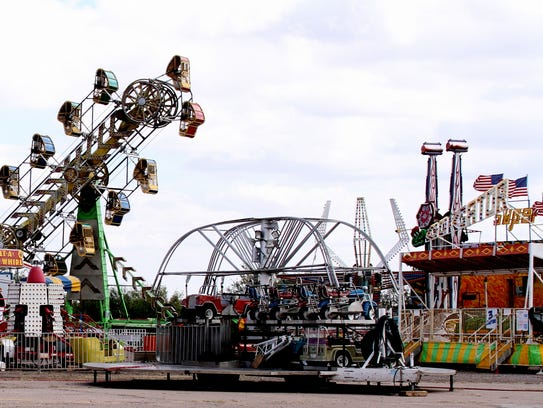 The Southwestern New Mexico State Fair carnival midway