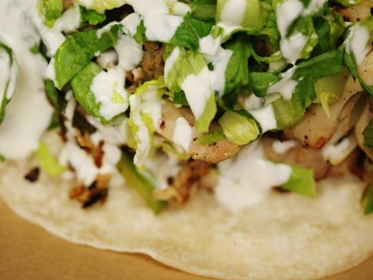TacoSpeak's Don Pablo is among the nine offerings at the restaurant, which opened recently on West Tennessee Street.