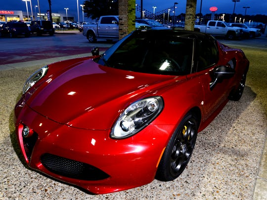 The 2015 Alfa Romeo 4C Spider has 237 Horse Power and retails for $76,345.