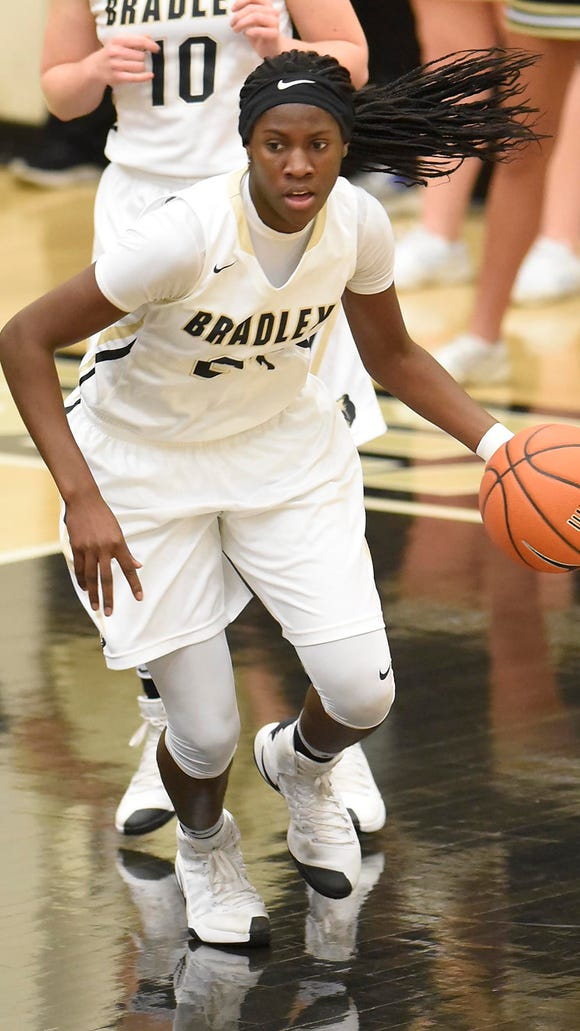 Bradley Central (Tenn) standout Rhyne Howard is visiting