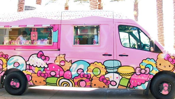 The Hello Kitty cafe truck rolled into Scottsdale Quarter