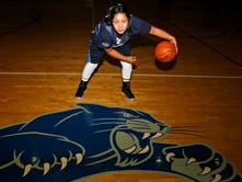 Piedra Vista's Nykki Benally stands for a photo on Monday at the Jerry A. Conner Fieldhouse in Farmington.