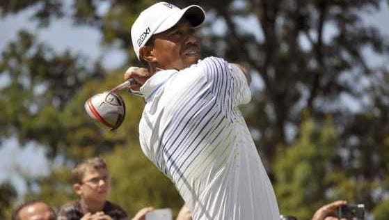 Tiger Woods had a players card from the upstate Turning Stone Casino and Resort when he was arrested Monday, May 29, 2017. In this AP file photo, Woods tees off on the fifth hole during the fifth annual Notah Begay III Foundation Challenge at Atunyote Golf Club at Turning Stone Resort and Casino in Verona, N.Y.