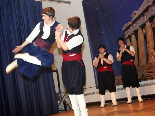 Traditional Greek folk dancing.