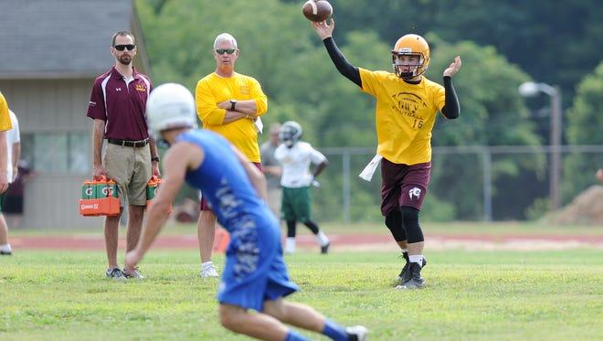 Cherokee rising junior Tye Mintz passed for 1,872 yards last football season.
