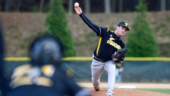 Tuscola's Jaxson Langston delivers a pitch during their