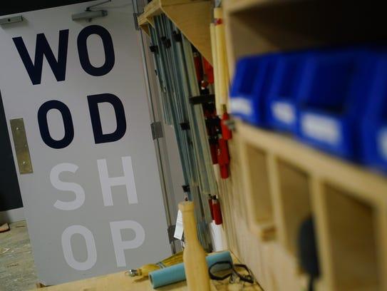 The wood shop at NextFab, a membership-based makerspace