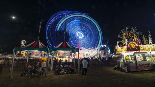 The 2019 Liberty Fest was captured at night in this image.