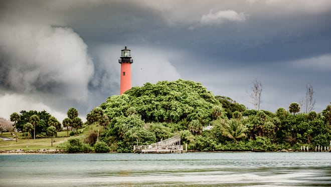 Summer afternoon storms roll in over the Jupiter Inlet Lighthouse recently.