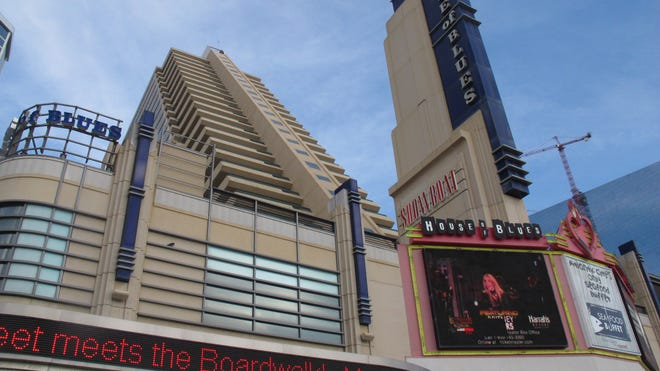 The Showboat Casino Hotel and its House of Blues nightclub in Atlantic City.