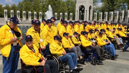 Never Forgotten Honor Flight: World War II Memorial, Washington D.C. History personified.