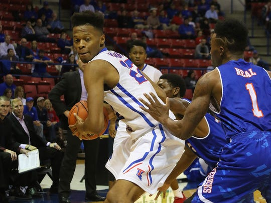Former Stewarts Creek standout Jy'lan Washington (22) is shown during a game with Louisiana Tech. Washington recently transferred to TSU, where he will have one year of eligibility remaining.
