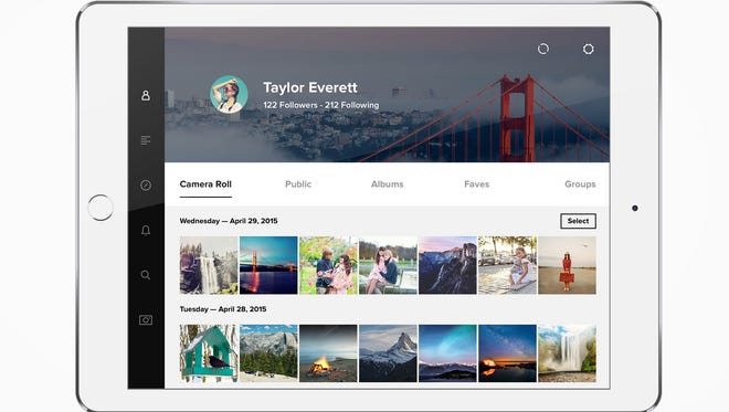 A screenshot of the redesigned Flickr.