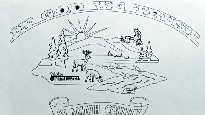 """Artist's conceptual drawing of what an """"In God we trust"""" sign could look like."""