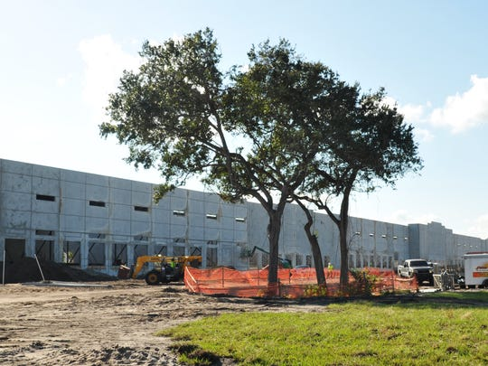 Construction began in July at the Titusville Logistics