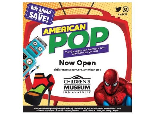 "Win an ""American POP"" prize pack including a four museum admissions. Enter 6/19-7/16"