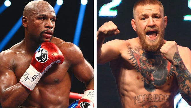 Prepare to pay up if you want to watch the Floyd Mayweather (left) and Conor McGregor fight in August.