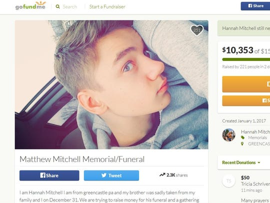 The GoFundMe page for set up by sister shooting victim