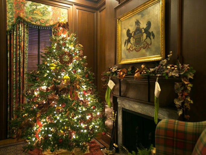 The Governor's Residence is ready for the holidays.