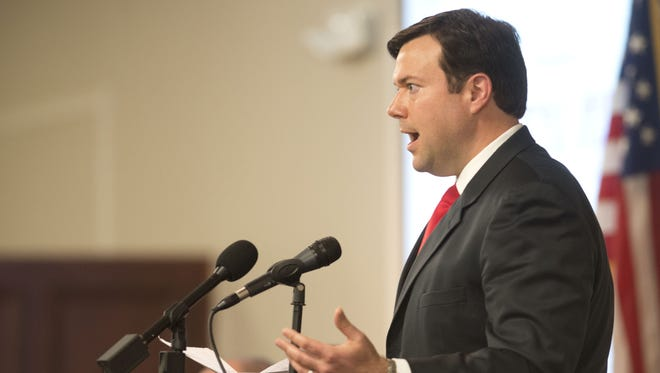 In this file photo, State House Rep. Clay Ingram speaks at the 2014 Legislative Luncheon.
