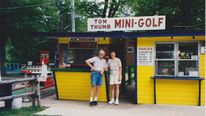 George and Jean Melby bought Tom Thumb Mini Golf on a whim in 1973 when June Melby was 10 years old. June has written a book about life growing up on a minigolf course and the lessons she learned as she watched other people enjoy their summer vacations while she worked.