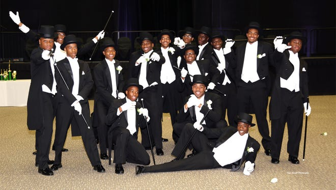 Seventeen Links Beautillion Beaux present a contemporary dance routine during their Formal Presentation.