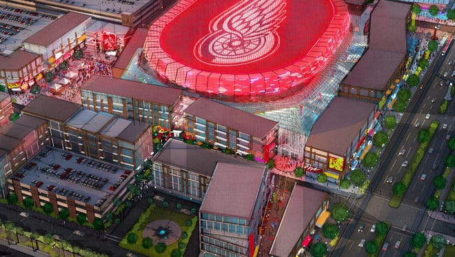 Sept. 2014 image provided by Olympia Development shows a possible look for the arena  now under construction.