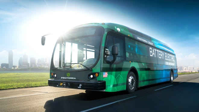 Proterra's newest electric bus managed to drive 600 miles on a test track, which translates to 350 miles of real world bus driving.