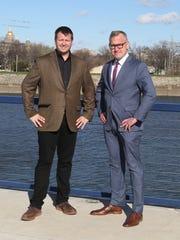Attorney Larry James and Steve Bruere, president of