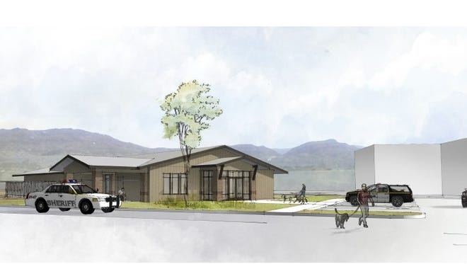 A preliminary drawing shows what a new Washington County Animal Shelter could look like at its planned location near the Purgatory Correctional Facility in Hurricane.
