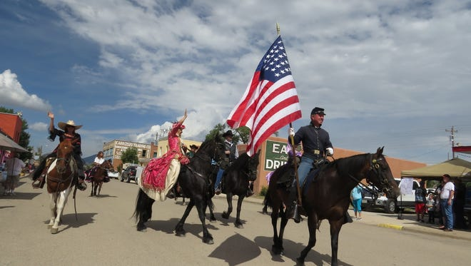 Carrizozo residents lined up along historic 12th Street for the parade Saturday.