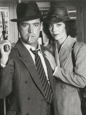 Powers Boothe played detective Philip Marlowe for HBO. Kathryn Leigh Scott co-starred.