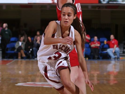 Albertus Magnus sophomore Danielle LaRochelle played varsity basketball at Nyack High School as an eighth grader.
