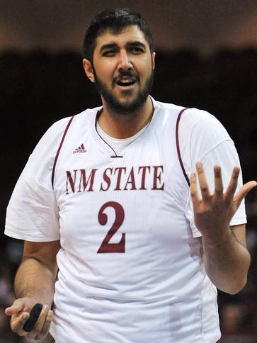 Sim Bhullar played at New Mexico State, and now he'll