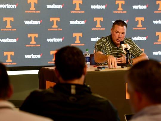 University of Tennessee head football coach Butch Jones