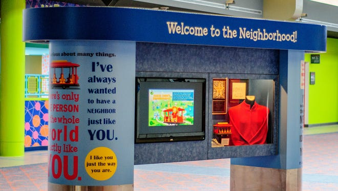 "Pittsburgh International Airport has a recently updated permanent exhibit in Concourse C about ""Mister Rogers' Neighborhood."""