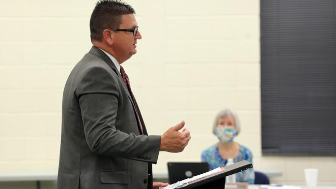 Dr. Stephen Fisher presented a plan on Friday for the reopening of Cleveland County Schools.