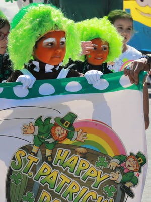 St. Patrick Cathedral School kindergartners dressed up for a St. Patrick's Day celebration in 2016.