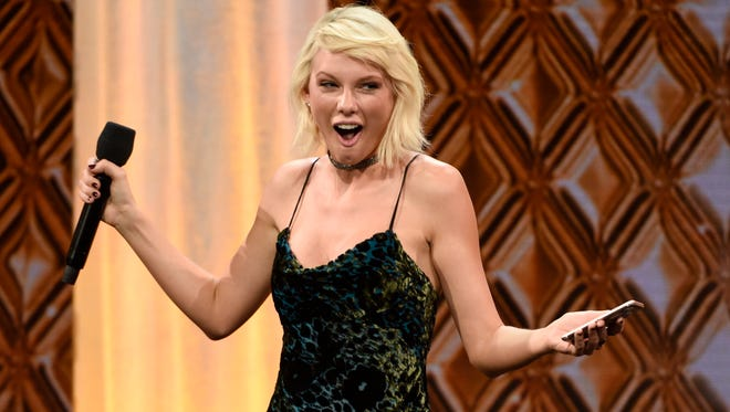 Taylor Swift accepts the BMI Taylor Swift Award at the 64th annual BMI Pop Awards at the Beverly Wilshire Hotel on Tuesday, May 10, 2016, in Beverly Hills, Calif.