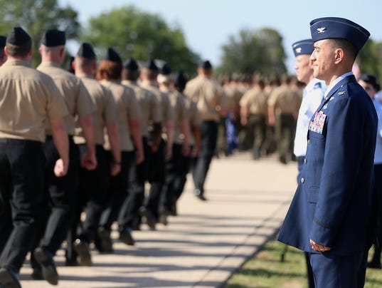 2017 Goodfellow Air Force Base's change of command ceremony