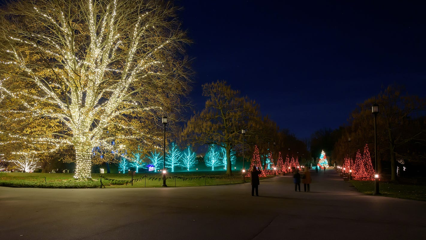 longwood gardens lights up holidays - Longwood Gardens Christmas Lights