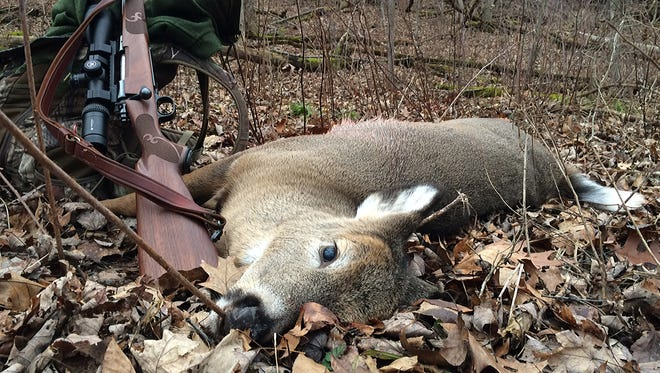Patrick Durkin shot this buck fawn last week during the state's four-day antlerless-only hunt.