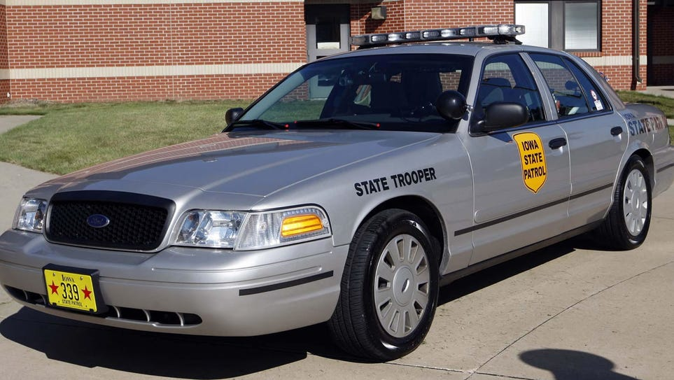 Generic photo of an Iowa State trooper vehicle