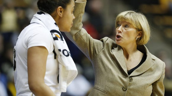 Purdue women's basketball coach Sharon Versyp lost a timeout after officials didn't uphold her challenge Sunday vs. Penn State