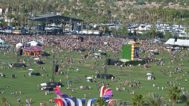 The scene from Coachella's grounds.