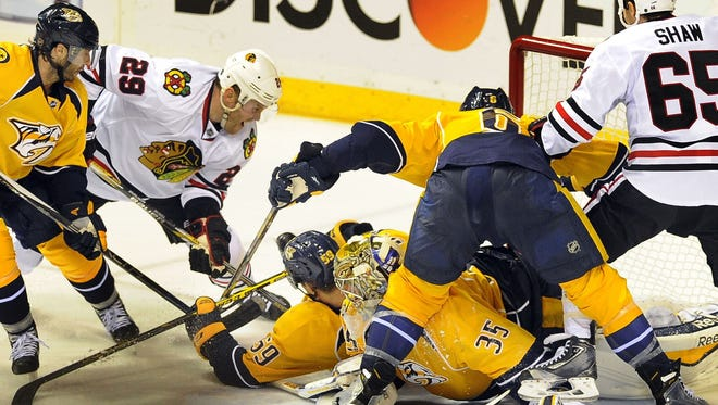 The Predators face a 1-0 series deficit after blowing a 3-0 first-period lead.