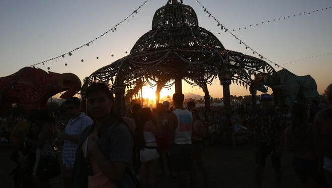 Coachella at sunset. (April 17, 2015)