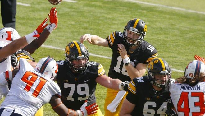 Iowa's C.J. Beathard will face a top-notch defense from Northwestern Saturday.