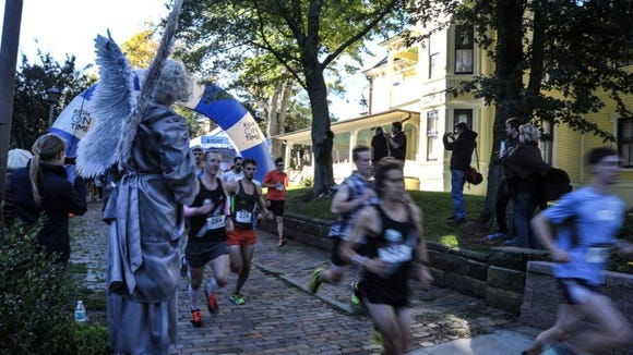 More than 300 runners took part in the 39th running of the Thomas Wolfe 8K race Saturday in Asheville.