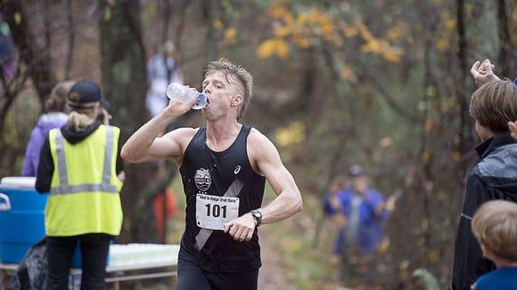 Shiloh Mielke of Asheville was the overall winner of the 2015 Shut-In Ridge Trail Run Saturday, Nov. 7, on the Blue Ridge Parkway.